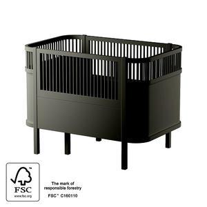 Sebra Baby & Juniorbett Black wooden Edition