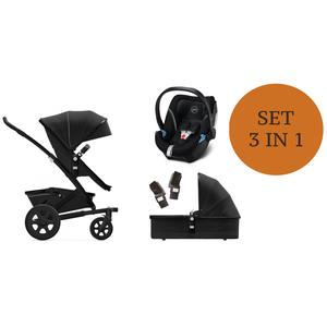 Joolz Geo 2 Kinderwagen Set 3 in 1 inkl. Cybex Aton 5 Babyschale Brilliant Black - Reflective Soho Grey