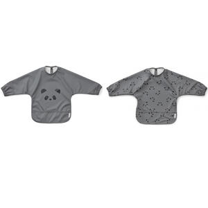 Liewood Merle Ärmellätzchen 2 Stk. Pandas stone grey