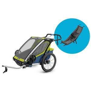 Thule Chariot Fahrradanhänger Set + Babysitz Sport 2 Chartreuse