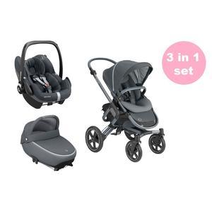 Maxi Cosi Nova 4 Kinderwagen Premium Set 3 in 1 (Jade Babywanne & Pebble Pro Babyschale) Essential Graphite