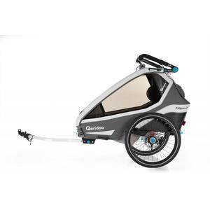 Qeridoo Kidgoo2 Sport Fahrradanhänger Modell 2020 Grau