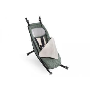 Croozer Babysitz inkl. Winter-Set 2020 für Fahrradanhänger ab 2014 Jungle green/black