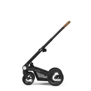 Mutsy Icon Kinderwagen Set 3 in 1 2020 (mit Cognac Griff) Black, Grip Cognac (reflective wheels) Balance Indigo Deep Black