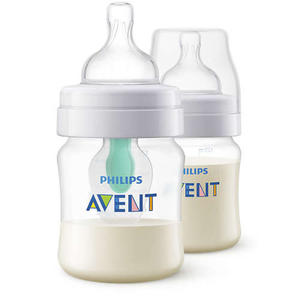 Philips Avent Anti-Colik Flasche mit AirFree Ventil, 125 ml, 2er-Pack, transparent