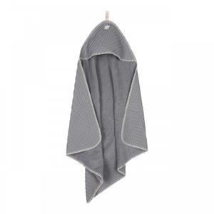 Koeka Kapuzenhandtuch Waffel Amsterdam steel grey