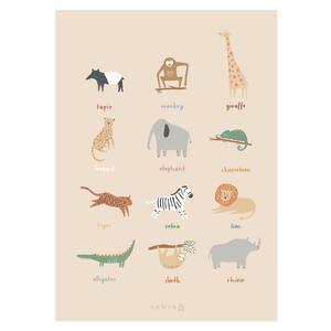 Sebra Poster Kinderzimmer Wildlife
