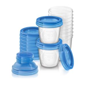 Philips AVENT Muttermilchbehälter 10x 180ml mit Adapter