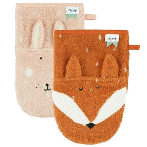 Trixie Waschhandschuhe, 2er-Pack Rabbit - Fox