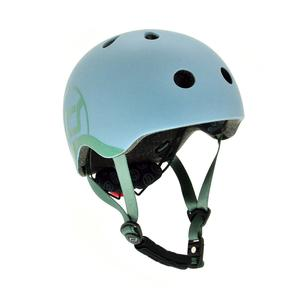 Scoot & Ride Kinderhelm XXS - S Steel