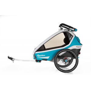 Qeridoo Kidgoo2 Sport Fahrradanhänger Modell 2020 Petrol