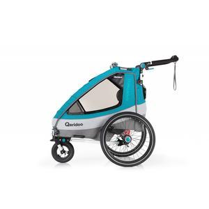 Qeridoo Sportrex1 Fahrradanhänger Modell 2020 Petrol