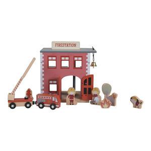 Little Dutch Eisenbahn Erweiterungsset Feuerwehrhaus