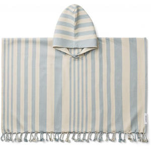 Liewood Roomie Kinderponcho 3-4 Jahre Stripe:sea blue/sandy
