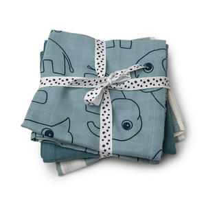 Done by Deer Mullwindeln 3-er Pack 70x70 cm Blue