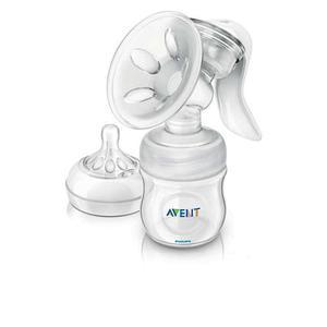 Philips AVENT Komfort-Milchpumpe mit 125ml Naturnah-Flasche SCF330/20