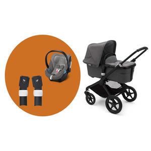 Bugaboo Fox2 Kinderwagen Set 3 in 1 incl. Babyschale Schwarz / Grau Meliert Soho Grey