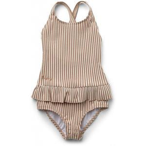 Liewood Amara Seersucker Baby- & Kinderbadeanzug 74-80 (9-12M) Stripe: tuscany rose/sandy