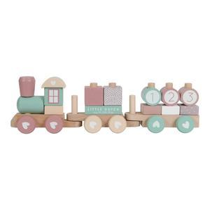 Little Dutch Holz Eisenbahn mit Bauklötzen Pink