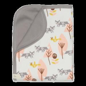 Fresk Babydecke aus Baumwolle Fuchs pink