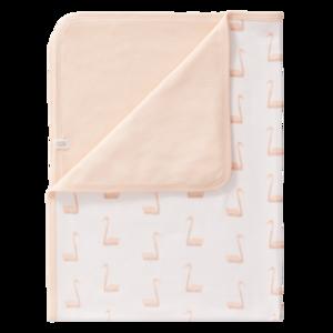 Fresk Babydecke aus Baumwolle Schwan