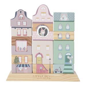 Little Dutch Stapelhäuser 18-teilig Pink