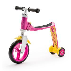 Scoot & Ride Highwaybaby+ 2in1 Laufrad & Kinderroller pink/yellow