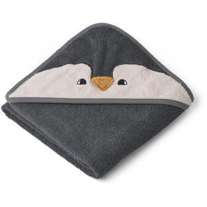 Liewood Albert Kapuzenhandtuch Penguin stone grey