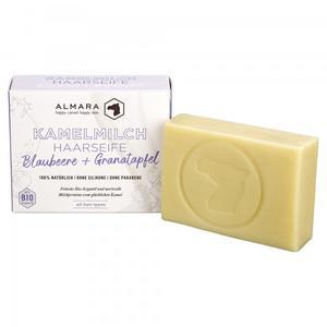 Almara Kamelmilch Haarwaschseife Blaubeere & Granatapfel