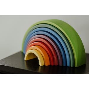 3in1 Holz Regenbogen, Labyrinth und Xylophon
