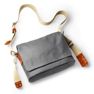 Brooks Barbican Shoulder Bag Canvas - grau