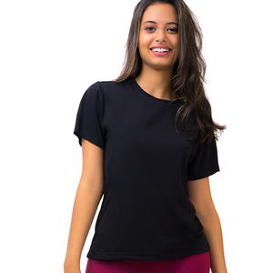 Damen Sport T-Shirt Basic Schwarz