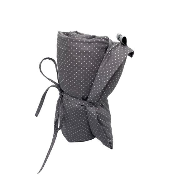 Kissenbezug 55x25 Design Grau mit Punkte passend für Kirschkernkissen 55x25