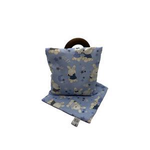 Traubenkernkissen Häschen blau (Set, inkl. 2 Hülle)