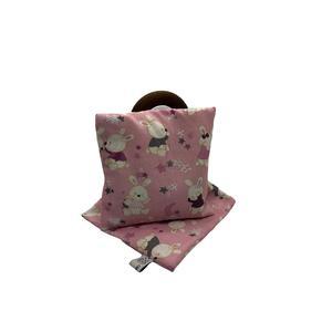 Traubenkernkissen Häschen rosa (Set, inkl. 2 Hülle)