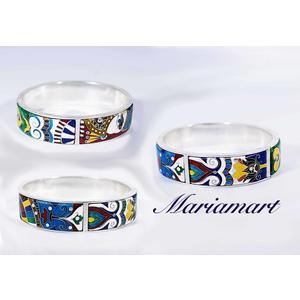 Armband /Bracelet.Georgische Cloisonne Emaille,Handgemachte Schmuck, Unikat,Sterling Silber