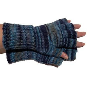 Handgestrickte Handschuhe, Kurzfinger, Marktfrauen, Musiker, Reiter,...Größe 8 - 9