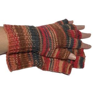 Handgestrickte Handschuhe, Kurzfinger, Marktfrauen, Musiker, Reiter,...Größe 6 - 7