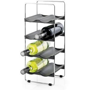 Weinregal für 8 Flaschen Edelstahl poliert VINEDO