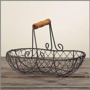Gitterkorb Cicero, oval, Eisen braun, 16x25x12 cm