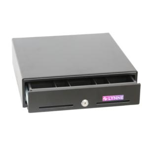 Kassenschublade | Geldfach | Kassenlade | Geldkassen | Elektronische Frontöffnung mit RJ11 USB-Anschluss und manuelle Öffnung mit Schlüssel (Schwarz)