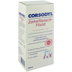 Corsodyl Zahnfleisch-Fluid Alkoholfrei 300 ml