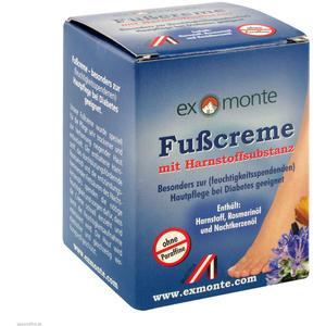 Exmonte Fuß Creme ohne Paraffine 100 ml