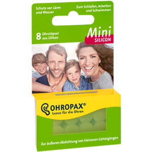 Ohropax Silicon Lärm/Wind Mini 8 Stk.