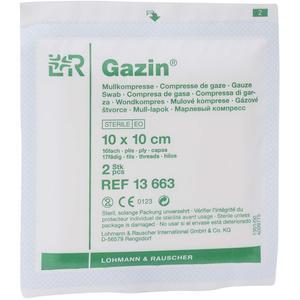 Gazin® Mullkompresse steril 2 Stk. 16-fach 10 x 10 cm