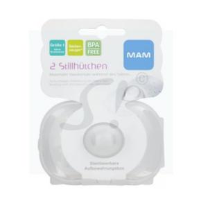 MAM Brusthütchen + Box 2 Stk. Gr. 1