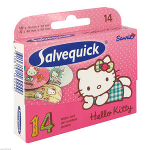 Salvequick Hello Kitty 2 Größen 14 Stk.