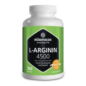 L-Arginin 4500 mg Kapseln 360 Stk.