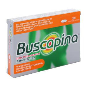 Buscopan plus Paracetamol 10 mg/ 500 mg Filmtabletten 20 Stk.