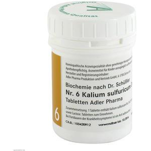 Schüßler Tabletten Nr. 6 Kalium Sulfuricum D 6 Adler Pharma 100 g